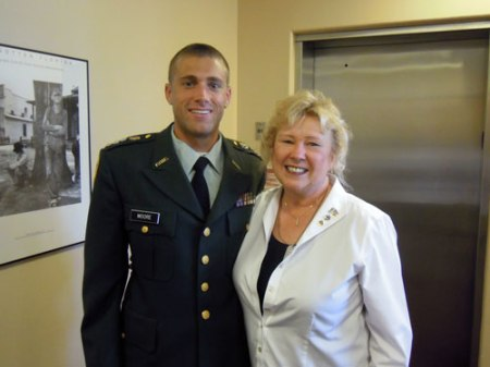 Austin Moore and Marylou Crosby Wade, 2011 Army ROTC Award Ceremony, Embry-Riddle Aeronautical University, Daytona Beach, Florida