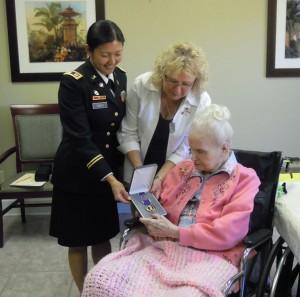 US Army Capt. Tweedy, Marylou, and Mom