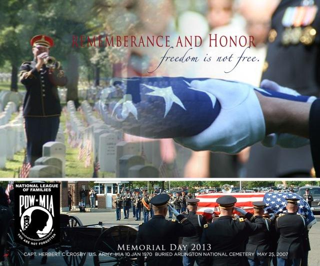 Funeral of Capt. Herbert C Crosby, Arlington National Cemetery, May 25, 2007